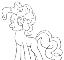 Pinkie Pie Sketch by ArsenGraal