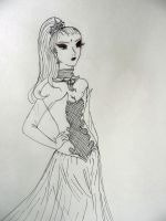 Vivienne-uncolored by EmpressofHeaven