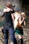 Leon and Ashley from RE4 by pixiekitty