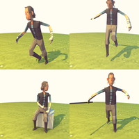 Lowpoly Hero (pose without facial expression) by lithium-sound