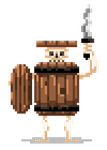Barrel Skeleton by Olsonmabob