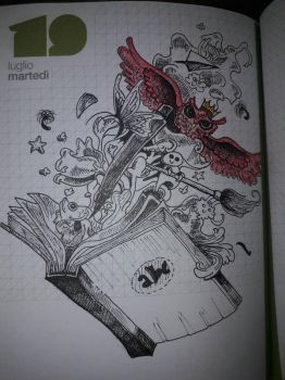 Old diary drawing by Piazdrawings