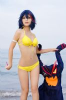 Ryuko Matoi Beach Queens by LilithNagisaIV