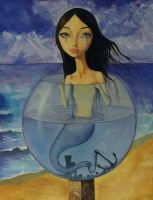Little Mermaid in a Tears Jar by borda