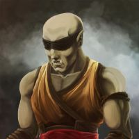 Half Orc Monk by Numberslayer