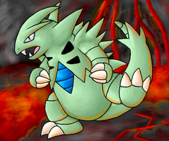 Tyranitar by kittyn131
