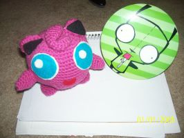Jigglypuff and Gir by Snivy94
