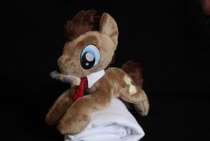 Doctor Whooves shoulderpony by Siora86