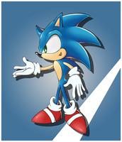 Sonic the Hedgehog by Hydro-King