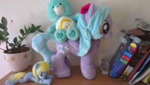 Ponies and carebears! by Epicrainbowcrafts