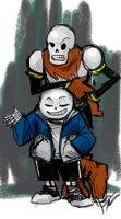 Undertale Sanspapyrussketch by jameson9101322
