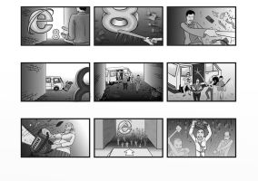Advertising Storyboard 1-1 by WasserBoxer