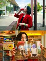 Janey in the supermaket by SoDespair