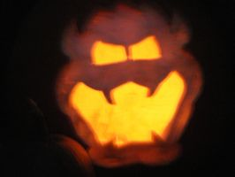 Bowser Pumpkin by dragons9rhapsody