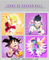 Dia 26: 4 Icons De Dragon Ball~ by xBonbons