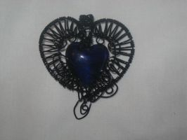 Gothic Heart Pendant Attempt 1 by WillowForrestall