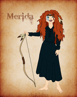 Western Disney - Merida by daKisha