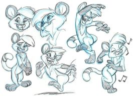 Cougari commission sketches by tombancroft