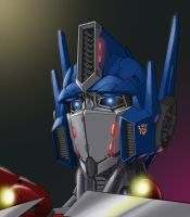 Optimus Prime bust by AzureChris