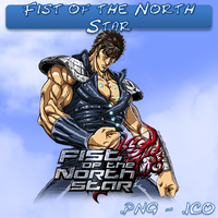 Fist of the North Star ICO, PNG & Folder by bryan1213