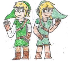 Link and Linette by SuperMarioOrigins