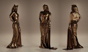 Bastet Egyptian Goddess of Protection by Piitas