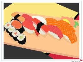 Sushi Platter Vector by lemontea