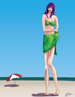 Violet Goes To The Beach by Fatricio