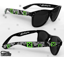 ''Creepy Creeper' handpainted sunglasses by Ketchupize