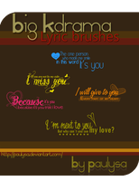 Big Kdrama Lyric brushes by Paulysa