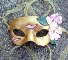 Gold Cherry Blossom Mask by merimask