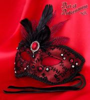 Sanguine Venetian Mask by ArtOfAdornment
