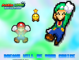 Mario and Luigi Dream Team on the Way by FaisalAden