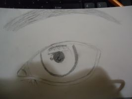 Working on a Realistic Eye by annaxichigo