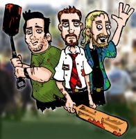 Shaun of the Dead - Coloured by DorkZombie