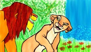 ..Simba and Nala.. by acid-drinker