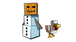 Minecraft Snow Golem by Enr1