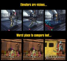 Stupid deaths collection: Elevators and Trains by AltairSky
