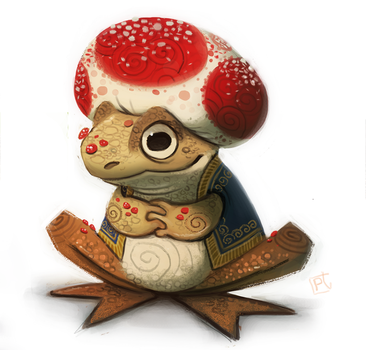 Day 710. Mario - Toad by Cryptid-Creations