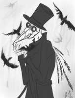 Time-traveling Plague Doctor by bug-in-my-eye
