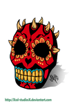 Mexican Skull Darth maul by XSol-StudiosX