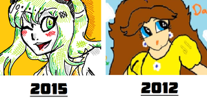 2015 vs 2012 art style MS paint by Sima2001