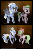 Flitter and Cloudchaser 3D Printed Figures by Clawed-Nyasu