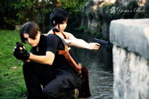 Leon S.Kennedy And Ada Wong by SleepingLeonhart