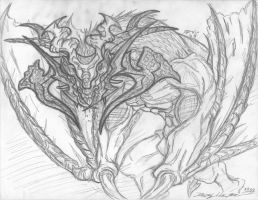 Sketch - Viral Wyvern by DoMo-DiSFunKTiOn