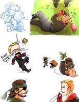 some BB and Ocelot by blacktenshi22