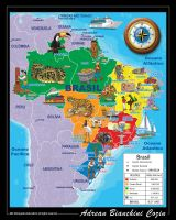 Map of Brazil by Adrean-BC