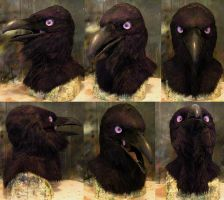Purple eyed raven mask by Crystumes
