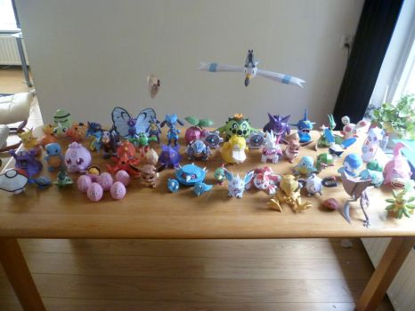 My pokemonpapercraftcollection by dodoman75