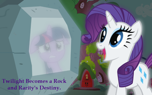 Twilight Becomes a Rock and Rarity's Destiny by Jokie155
